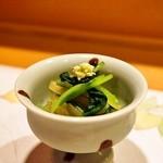 39760491 - 2015.7 青芋茎(蓮芋)、壬生菜、貝割れの山葵和え