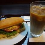 エクセルシオール カフェ  - ベーコンタマゴサラダセット:460円 (2015/7)