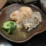 39764467 - 煮穴子膳:煮穴子、穴子の刺身胡麻和え、茶碗蒸し、雪花菜、炊合せ、香の物、 白花豆の含ませ煮3