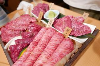 焼肉くにもと 新館 - 上等コース6000円×4人分の肉盛り合わせ
