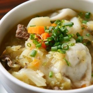 肉入り野菜スープ