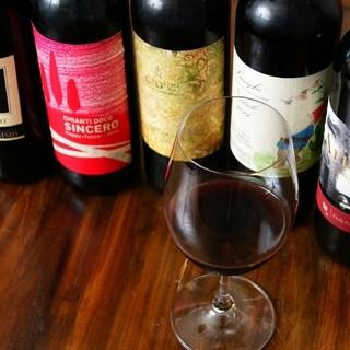 ワイン常時30種程の他にヴィンテージワイン1本限りも有