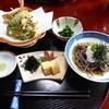 中村旅館 - 料理写真:昼食①(玉子焼き 蕎麦 天ぷら他)