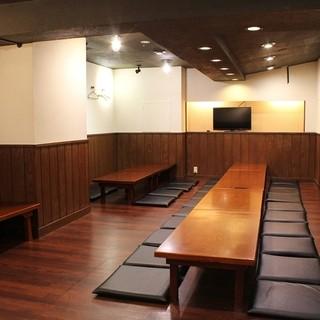 個室、掘りごたつ、宴会場完備!会社帰りの宴会や飲み会に最適!