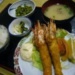 いかざき - 「日替わり定食(海老フライ)」(800円)