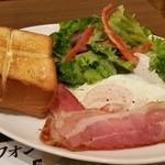 上島珈琲店 - 薄味ベースなプレートに好感が持てます(笑