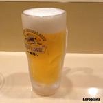 大手先 - 晩酌セットの生ビール。
