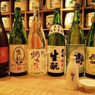 ぬる燗から冷酒まで日本酒多数