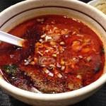 桃天花 - 坦々つけ麺 激辛のつけ汁