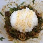 四川亭 - 汁なし担担麺&ご飯