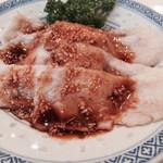 萬福飯店 - 蒸し肉のニンニクソース