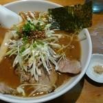 自家製麺 火の鳥73 - 醤油らぁめん(おろし生姜付き)  ¥710
