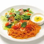 デラ パスタ キッチン - 料理写真:小海老のトマトソース【サラダプレート】