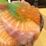 魚の旨い店 - 4色丼 アップ