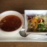 ishigakigyuusemmontensute-kihausuhachihachi - セット・スープ&サラダ