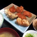誠一郎本舗 - ギョーザと唐揚げの専門店「ギョーザ屋誠一郎本舗」からあげ定食580円からあげ6個
