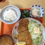 めぐみ食堂 - 料理写真:ミニ?チキンカツ定食
