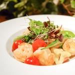 le Lien - 季節野菜とシュリンプのソテー