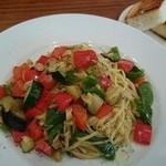 サンシーキッチン - 夏野菜のペペロンチーノ