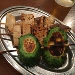 ぎんぶた - 野菜串のゴーヤとエリンギ