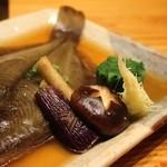 笹吟 - マコカレイの煮付け