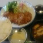 とんとん亭 - ロースカツ定食、ご飯大盛