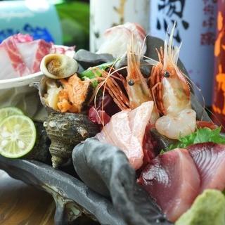 新鮮!天然鮮魚や海鮮料理も!