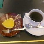銀座 風月堂 - 夏みかんの寒天ゼリーとコーヒー