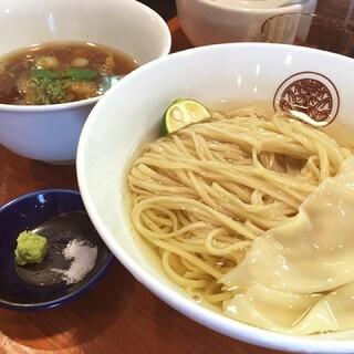 らぁ麺 とうひち - らぁ麺 とうひちの鶏醤油つけそば800円(15.04)