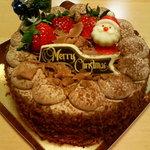 398185 - クリスマスのチョコ生ケーキ