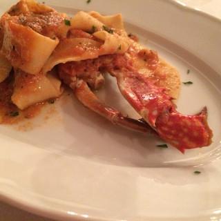 トラットリア トマティカ - 蟹のトマトソース パッパルデッレ
