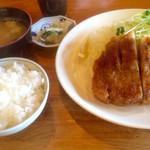 とんかつ ひやま - 特大ロースカツセット2484円