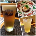 39805357 - 生ビール・つきだし・梅酒ソーダ割