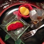 般若坊 - 抹茶セット 780円(税込) のお菓子