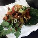 ハンガン - ゴーヤと茄子の韓国味噌炒め