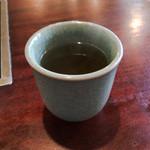 天ぷら きよし - アツアツのお茶