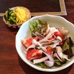 天ぷら きよし - サラダと香の物