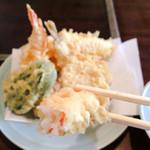 天ぷら きよし - 海老ぷりっぷりっ!