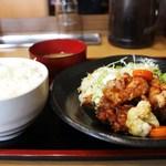 豊蔵 - 黒酢チキン定食