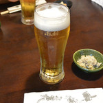さらしな総本店 - 生ビール(570円)