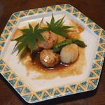 さらしな総本店 - 帆立の醤油焼(790円)