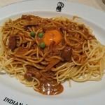 インデアンカレー - カレースパゲッティ大盛+たまご♪