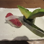 39817990 - かるび寿司、アボカド軍艦巻き