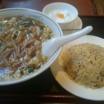 toukamura - サンマー麺・半チャーハン750円