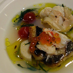 リストランテソットラルコ - イサキのソテー 蛤のスープ仕立て(ばらし)