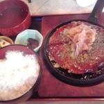 たぬきや - お好み焼きランチ 800円(税込)(2015年7月8日撮影)