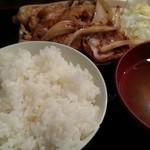 串かつ かつ~ん - ランチ豚の生姜焼き定食 2014.7