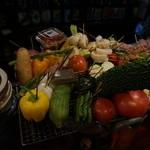 串焼き あだん - 巻き串意外の野菜もいっぱい