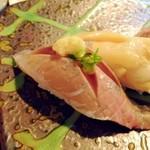 宝来寿司 - あじ。