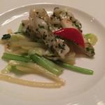 翠林 - 紫蘇とヤリイカと野菜の炒め物